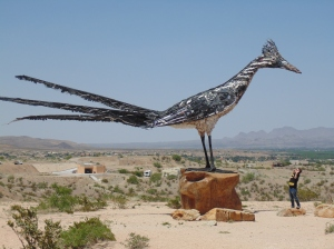The Roadrunner! Made completely out of recycled materials.