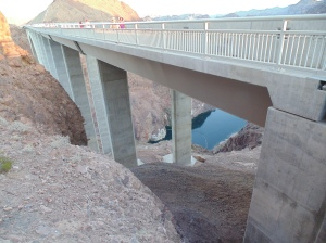 The new bridge with walkway for viewing the damn
